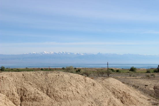 View across the Lake form 1st issy-kul camp site