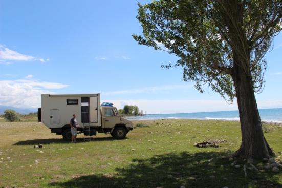 Camping by Lake Issy-Kul
