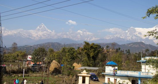 The Annapurna range, waiting to great us as we returned to Pokhara