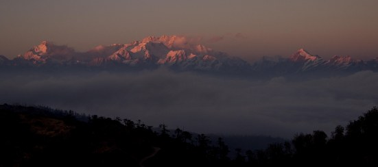 Saying goodnight to 'The Sleeping Buddha', as the range in known locally.