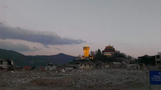 All that was left was the monastery on top of the hill and the world's largest prayer wheel (needing a min of 6 people to turn it)